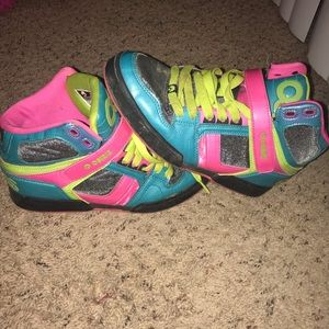 Osiris Multicolor High Top Skate Shoes Size 8.5